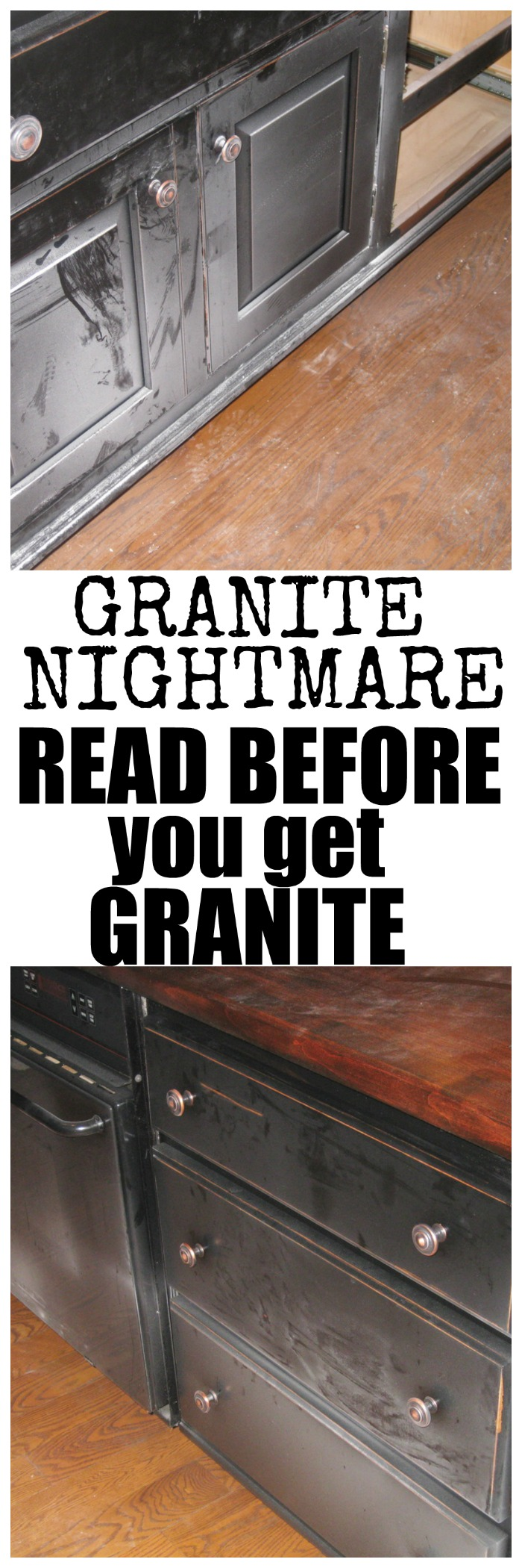Granite Nightmare (pictures to prove it) - Redhead Can Decorate