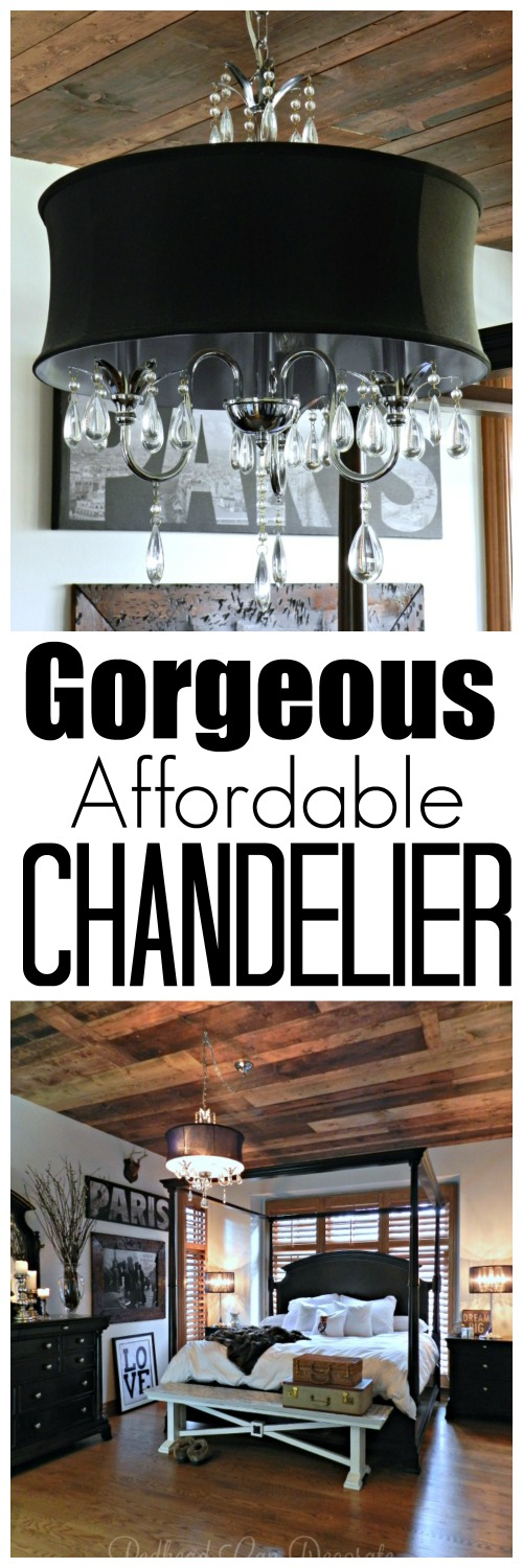 You won;t believe how inexpensive this gorgeous black drum chandelier is. It comes in white, too!