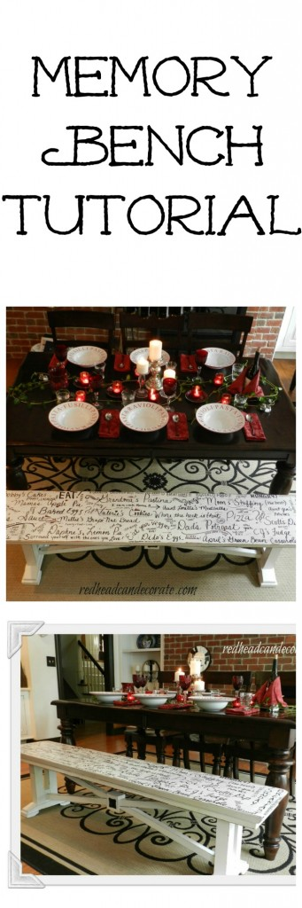 Memory Bench Tutorial by redheadcandecorate.com