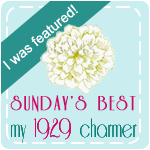 I was featured on My 1929 Charmer Blog!