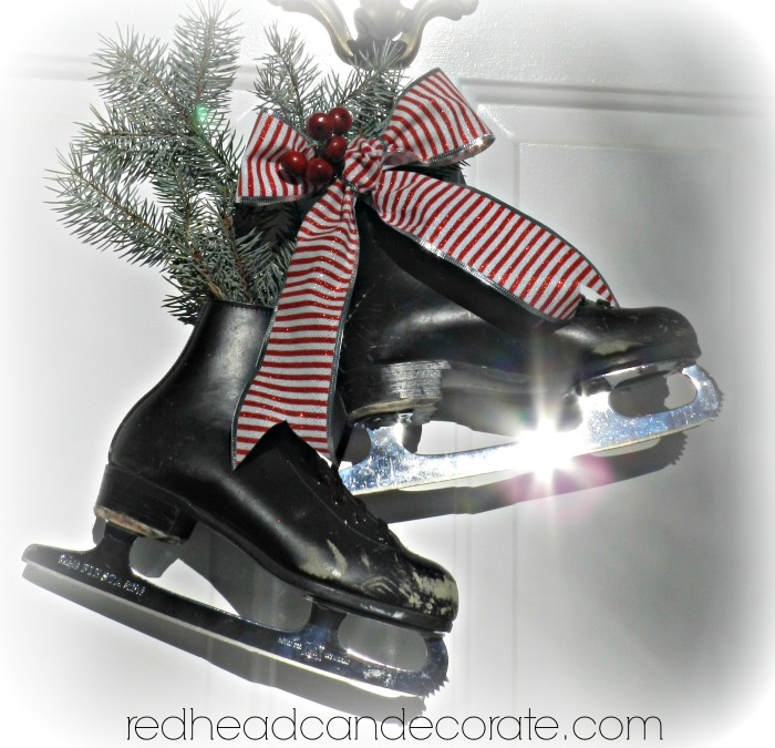 $4 Ice Skate Front Door Christmas Decor