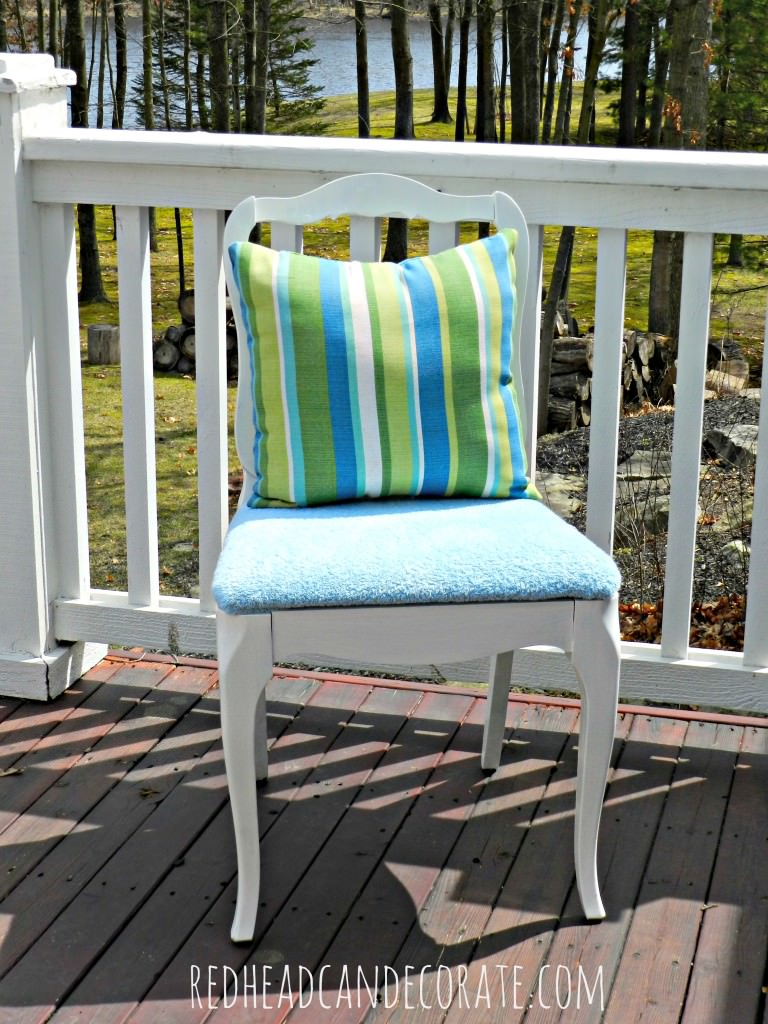 Reupholster your chair with a towel!