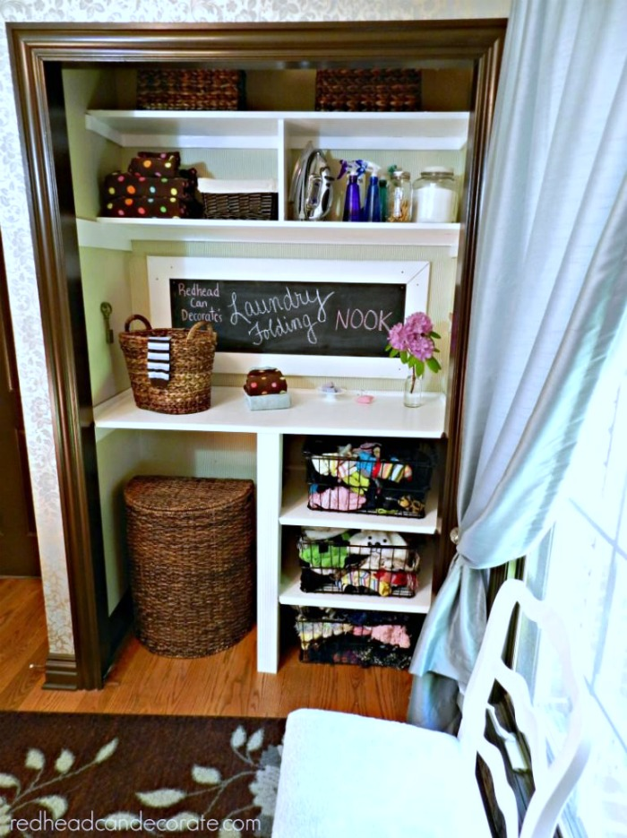 Cute Closet Folding Nook