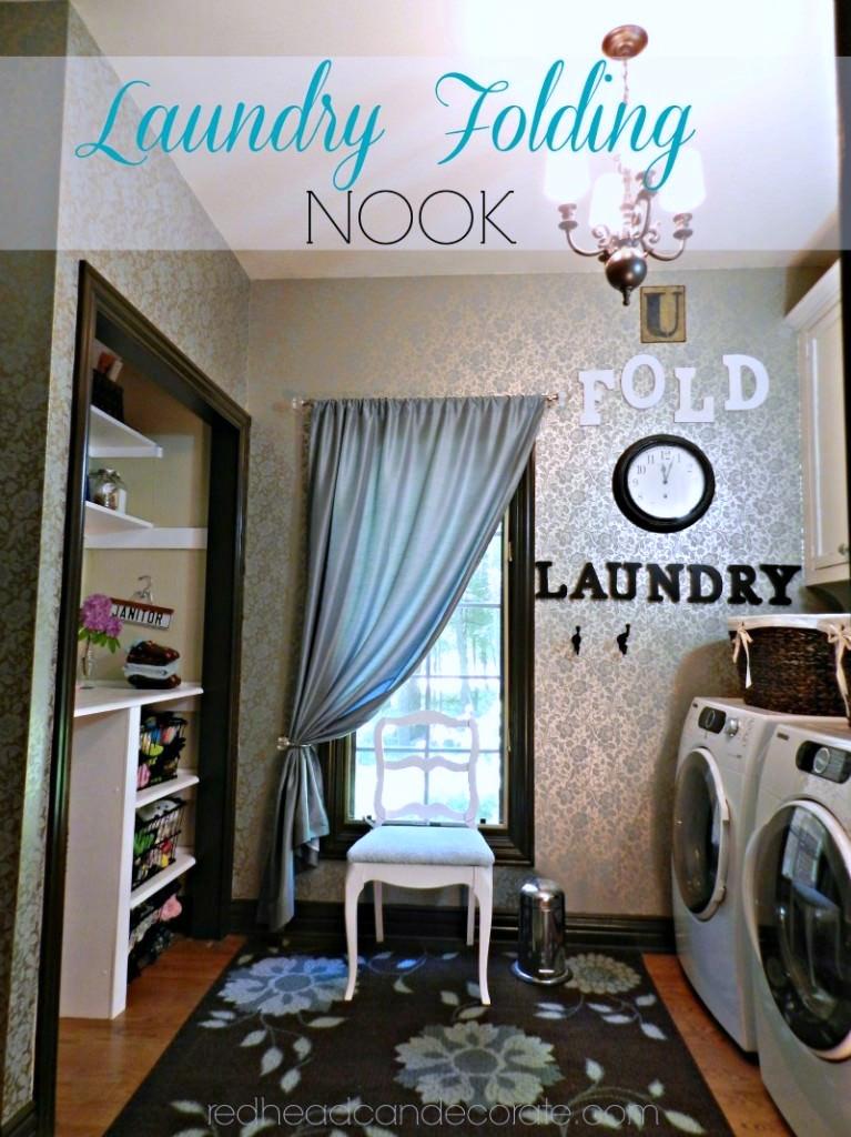 Laundry Folding Nook