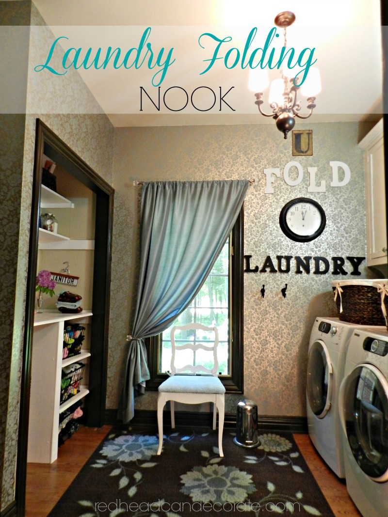 Laundry folding nookRedhead Can Decorate