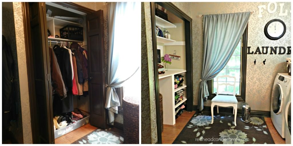 laundry room nook collage