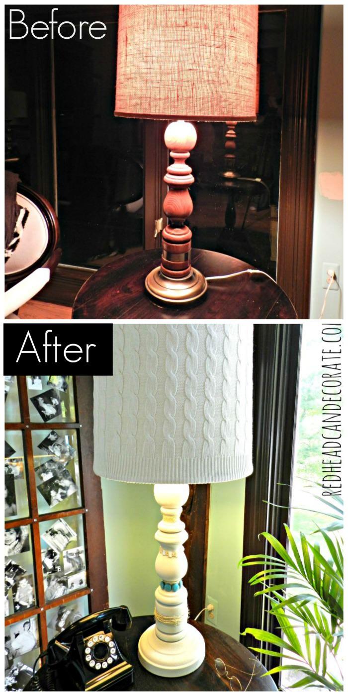 Lamp Makeover Redheadcandecorate.com
