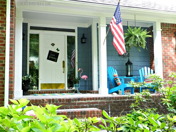 Summer Porch Make over Redhead Can Decorate