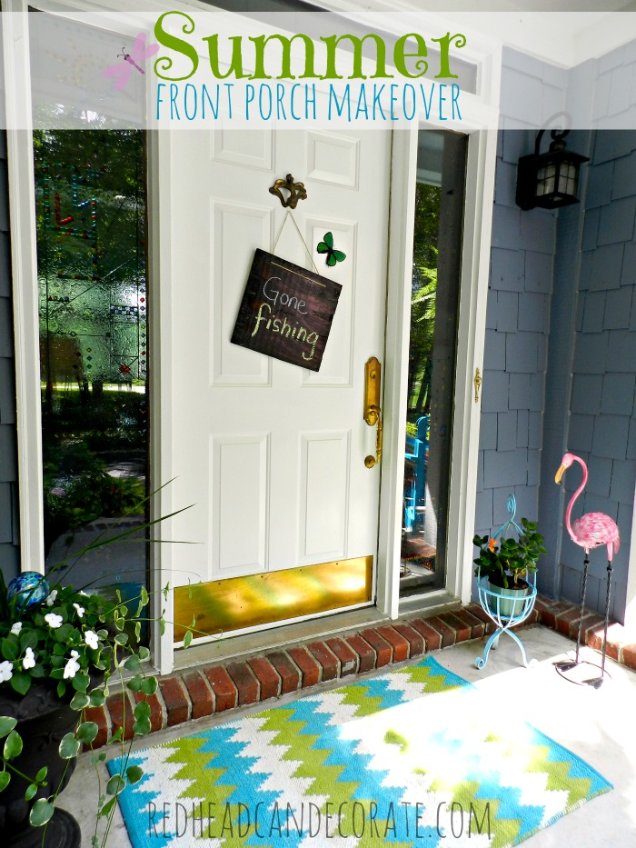 summer front porch makeover redhead can decorate. Black Bedroom Furniture Sets. Home Design Ideas