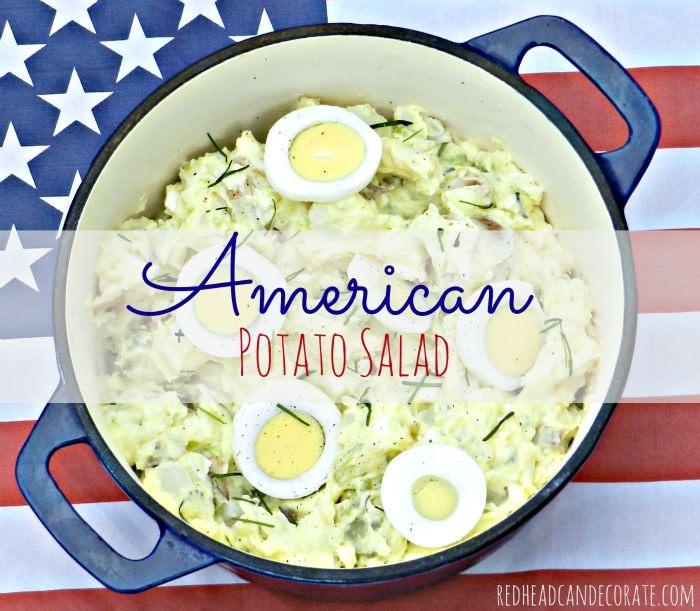 American Potato Salad Redhead Can Decorate