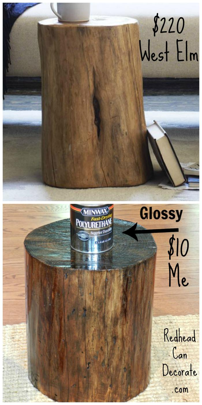 how to make end tables out of tree stumps | Beginner Woodworking ...