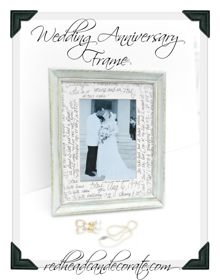 Wedding Anniversary Frame Redhead Can Decorate