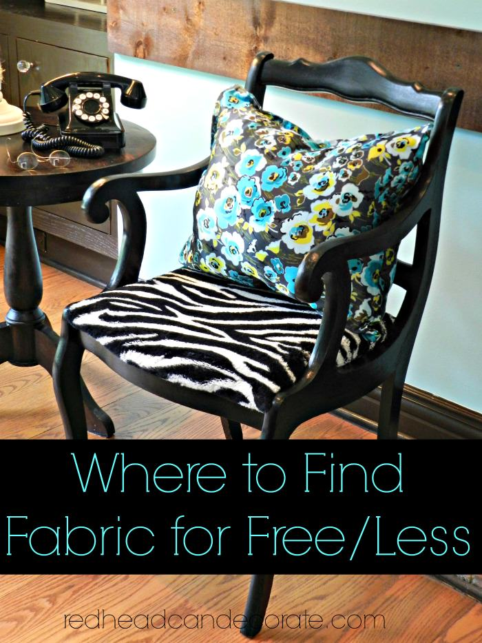 Where to find fabric for less/free.