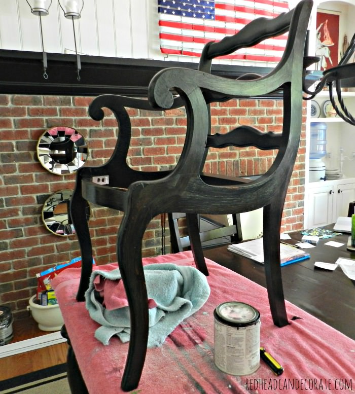 painting the chair black