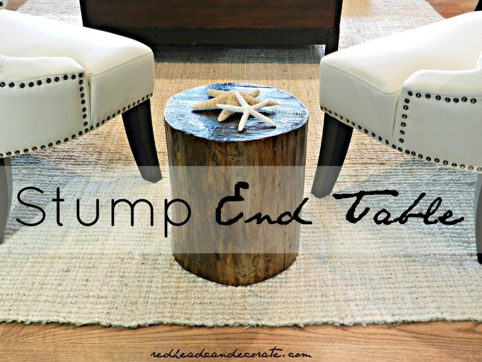 Stump End Table {easy}