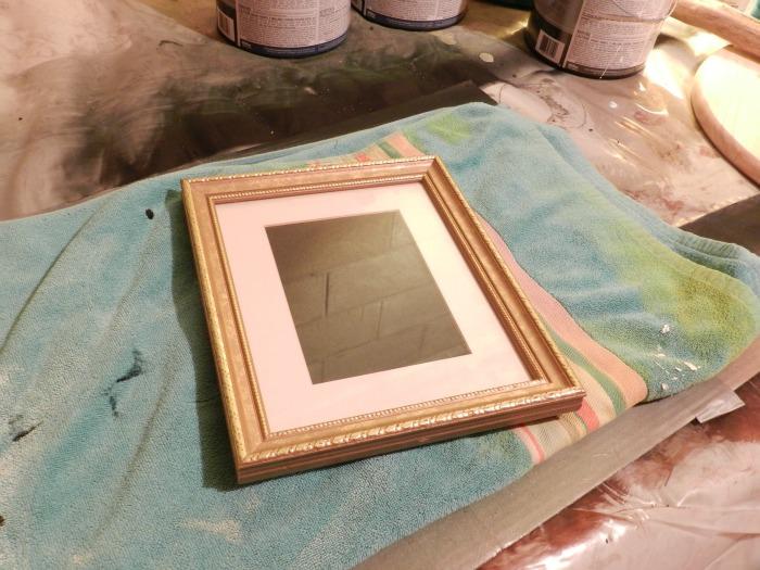 wedding frame gold