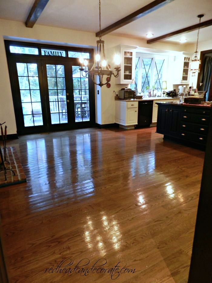 No sanding non toxic wood floor refinishing redhead can for Wood floor refinishing