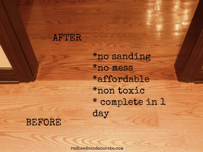 ... Refinishing Sandless Floor Refinishing - No Sanding Non Toxic Wood Floor Refinishing - Redhead Can Decorate