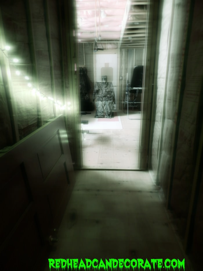 Halloween party ideas the haunted hall redhead can for Haunted house hallway ideas