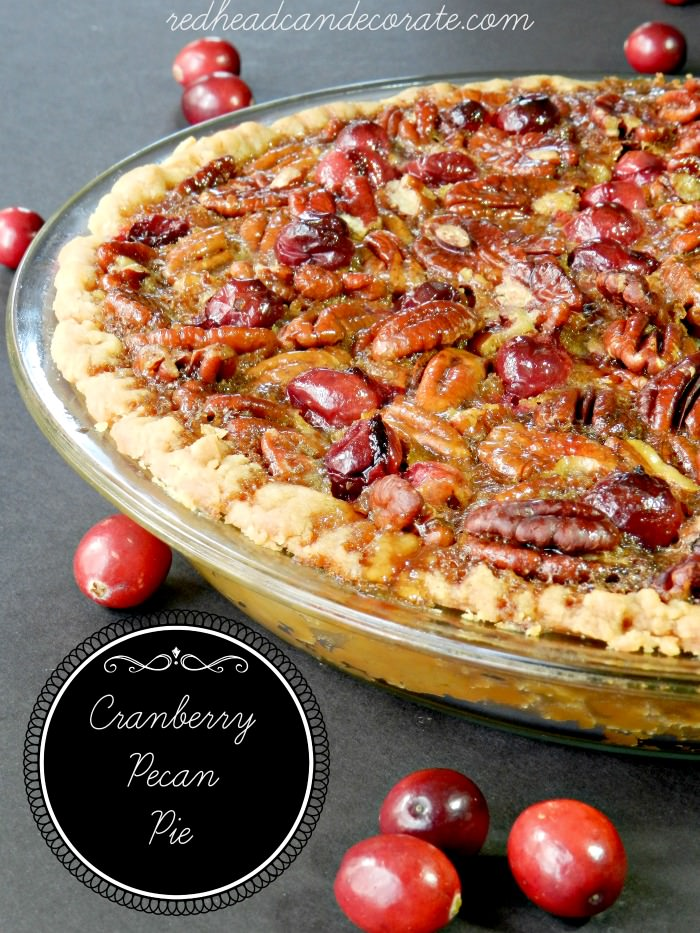 Amazing and festive: Cranberry Pecan Pie