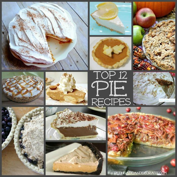 Top 12 Pie Recipes | Redhead Can Decorate