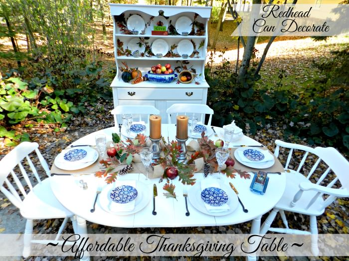 Affordable Thanksgiving Table