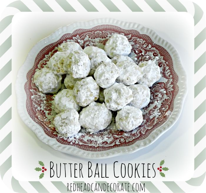 Butter Ball Cookies for Christmas