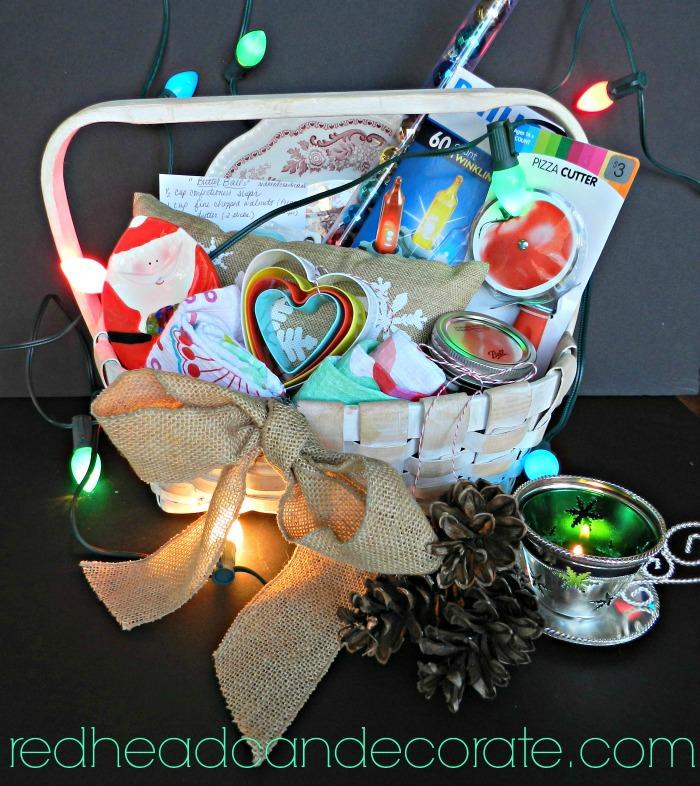 Redheadcandecorate.com Christmas Wish Basket