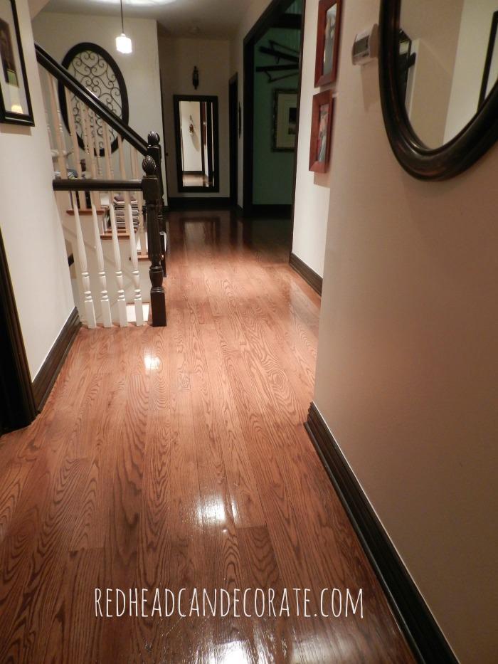 Sandless Wood Floor Refinishing hall 2