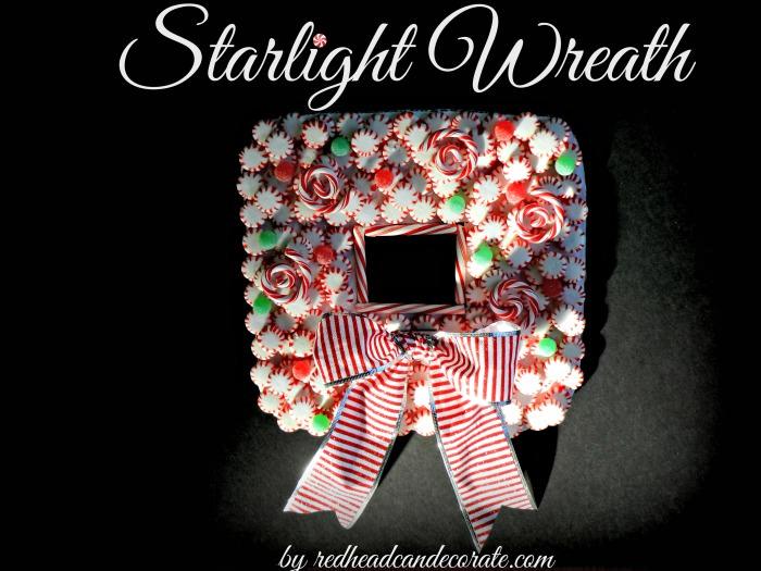 Starlight Wreath Redheadcandecorate.com