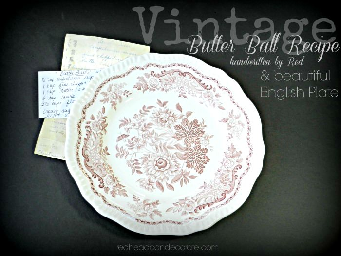 redheadcandecorate.com Free Giveaway English Plate w Vintage Recipe