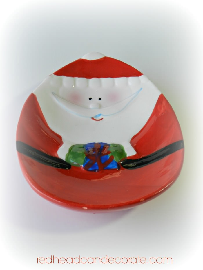 redheadcandecorate.com Free Giveaway Santa Spoon Rest
