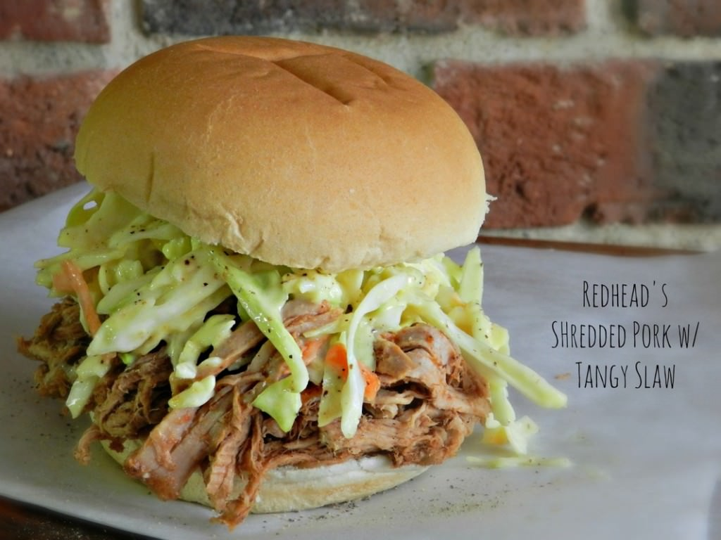 Crockpot Shredded Pork w/ Tangy Slaw