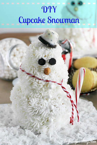 DIY Snowman Cupcake