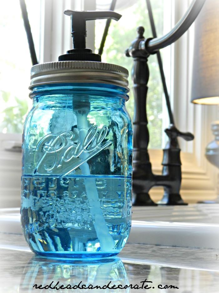 DIY Home Decor Ball Soap Dispenser