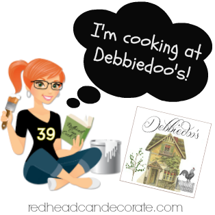 Cooking @ Debbiedoos with redheadcandecorate.com