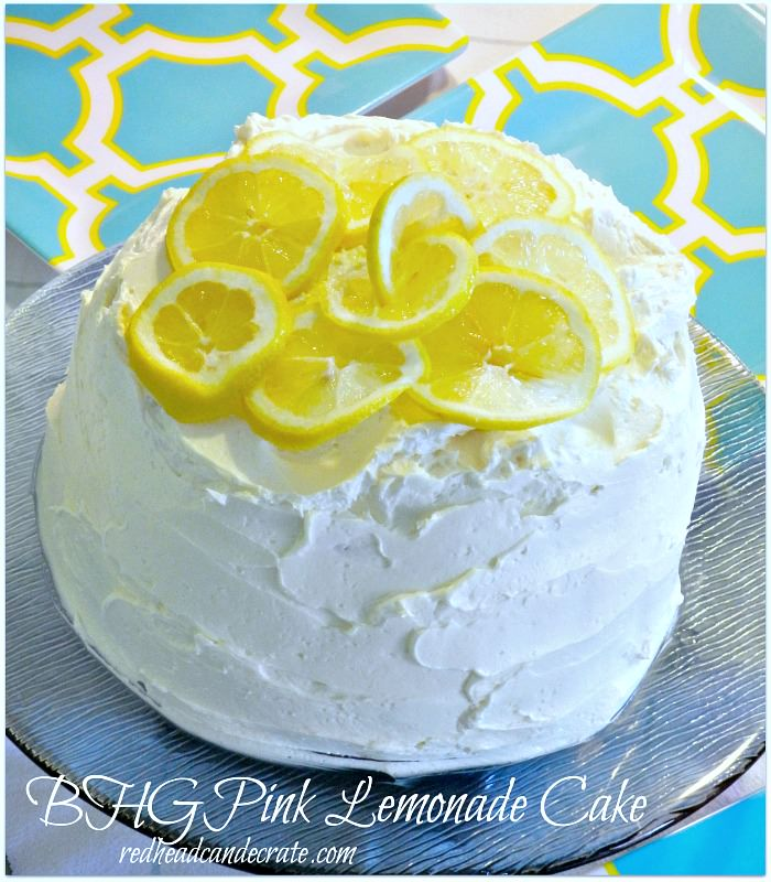 Pink Lemonade Cake by redheadcandecorate.com