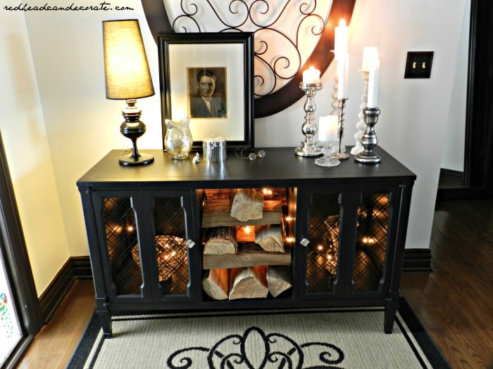 Console Makeover w: black paint