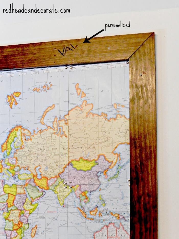 Custom Framed Map