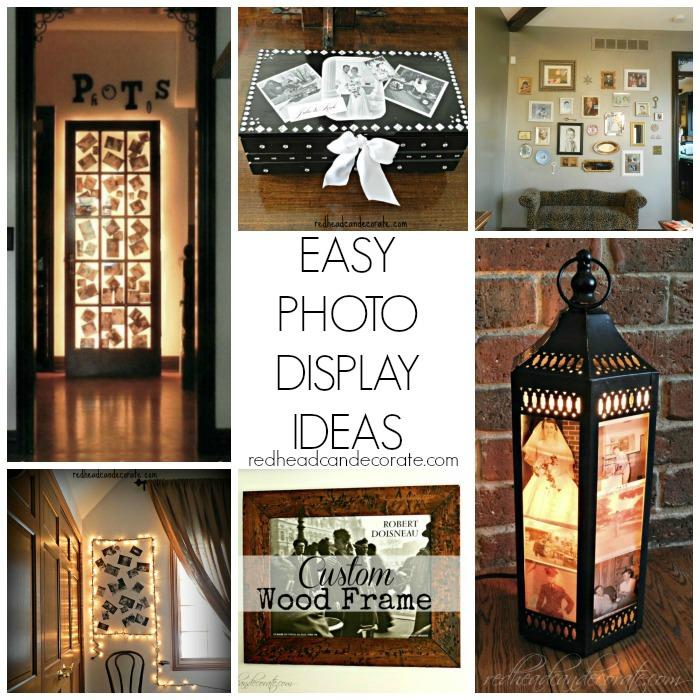 Easy Photo Display Ideas