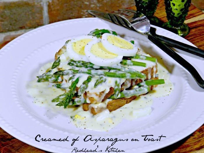 Yummy Creamed of Asparagus on Toast
