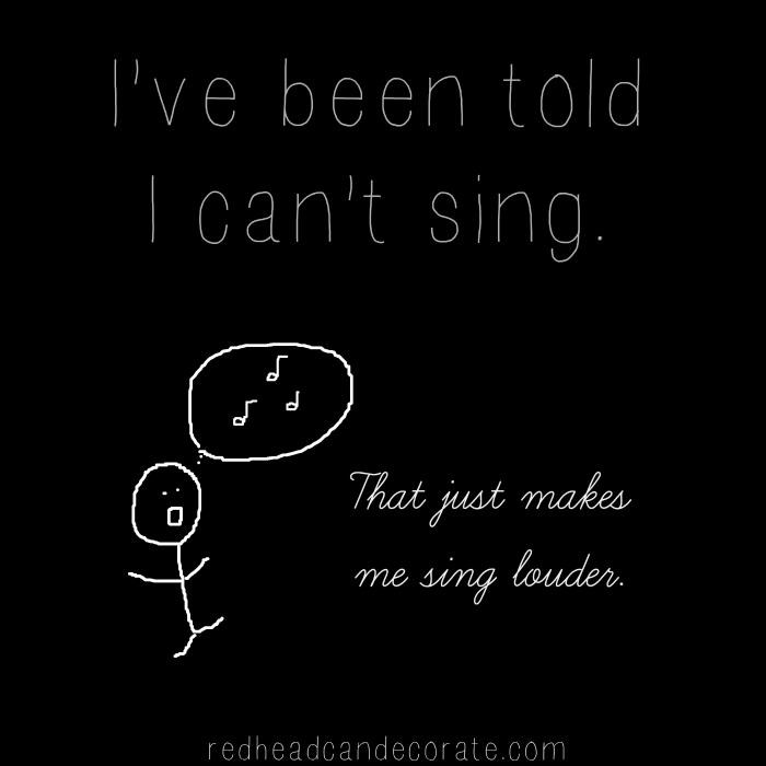 Can't Sing Graphic
