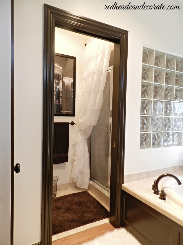 Pleasing Ruffled Curtain Over Glass Shower Door Redhead Can Decorate Largest Home Design Picture Inspirations Pitcheantrous