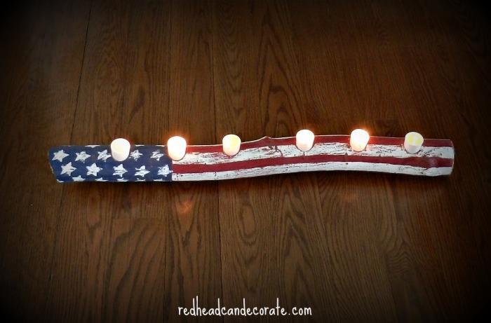 American Flag Canle Log