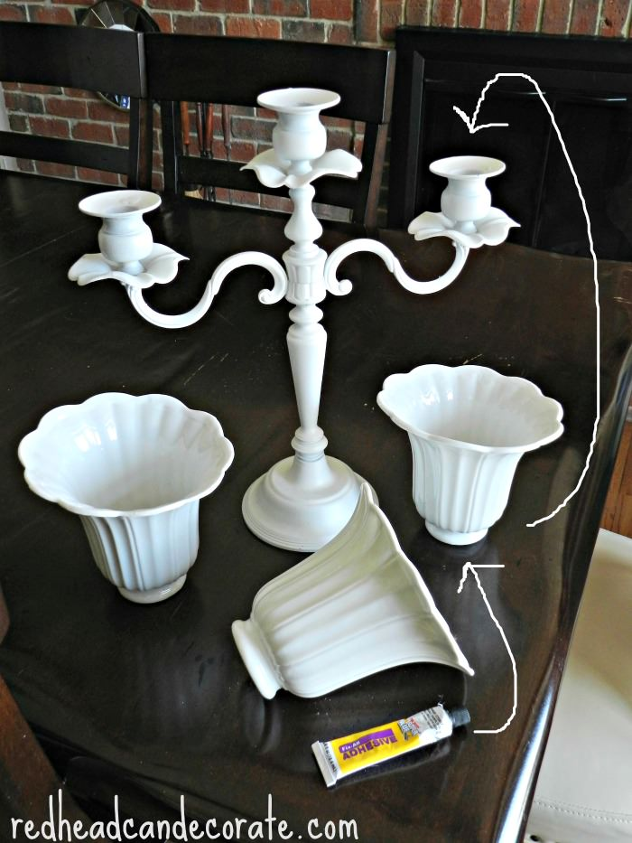 Candelabra Planter Tutorial