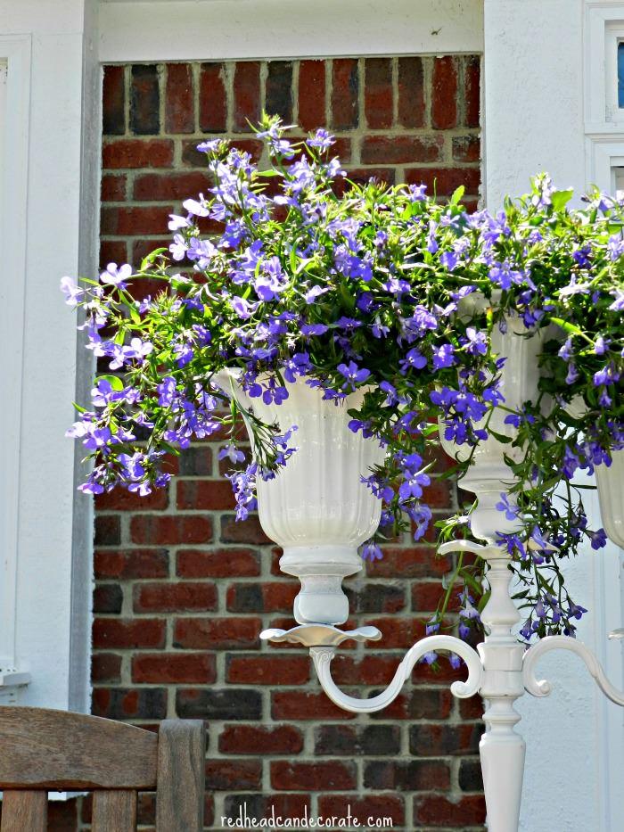 DIY Candelabra Flower Planter