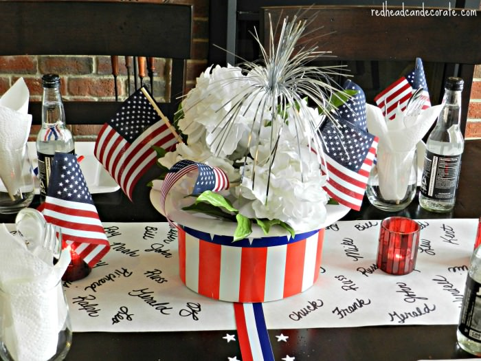 Memorial Day Center Piece