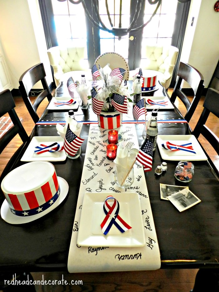 Memorial Day Table-Scape Ideas
