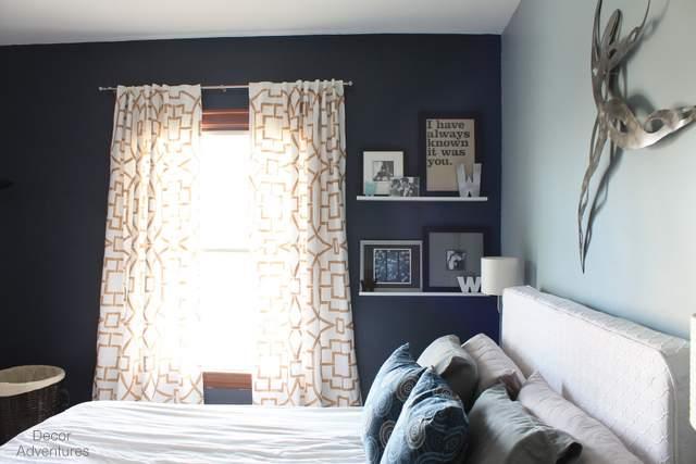 Hale Navy Accent Wall Bedroom