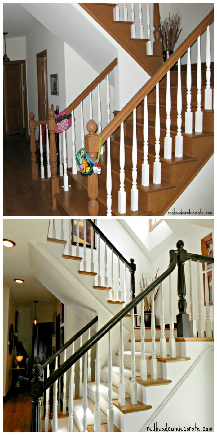 Staircase Makeover From Redheadcandecorate